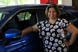 Title Clerk Jackie Javier in Oakes Mitsubishi Team at Oakes Auto