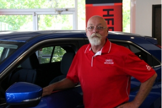 Service Manager Jimmy Moore in Oakes Mitsubishi Team at Oakes Auto