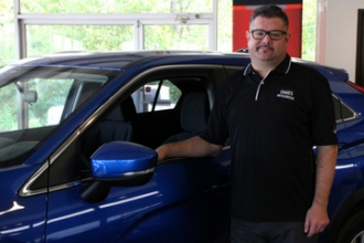 Acquisition Manager Joel Bach in Oakes Mitsubishi Team at Oakes Auto