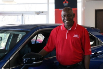 Sales Manager Tyrone Taylor in Oakes Mitsubishi Team at Oakes Auto