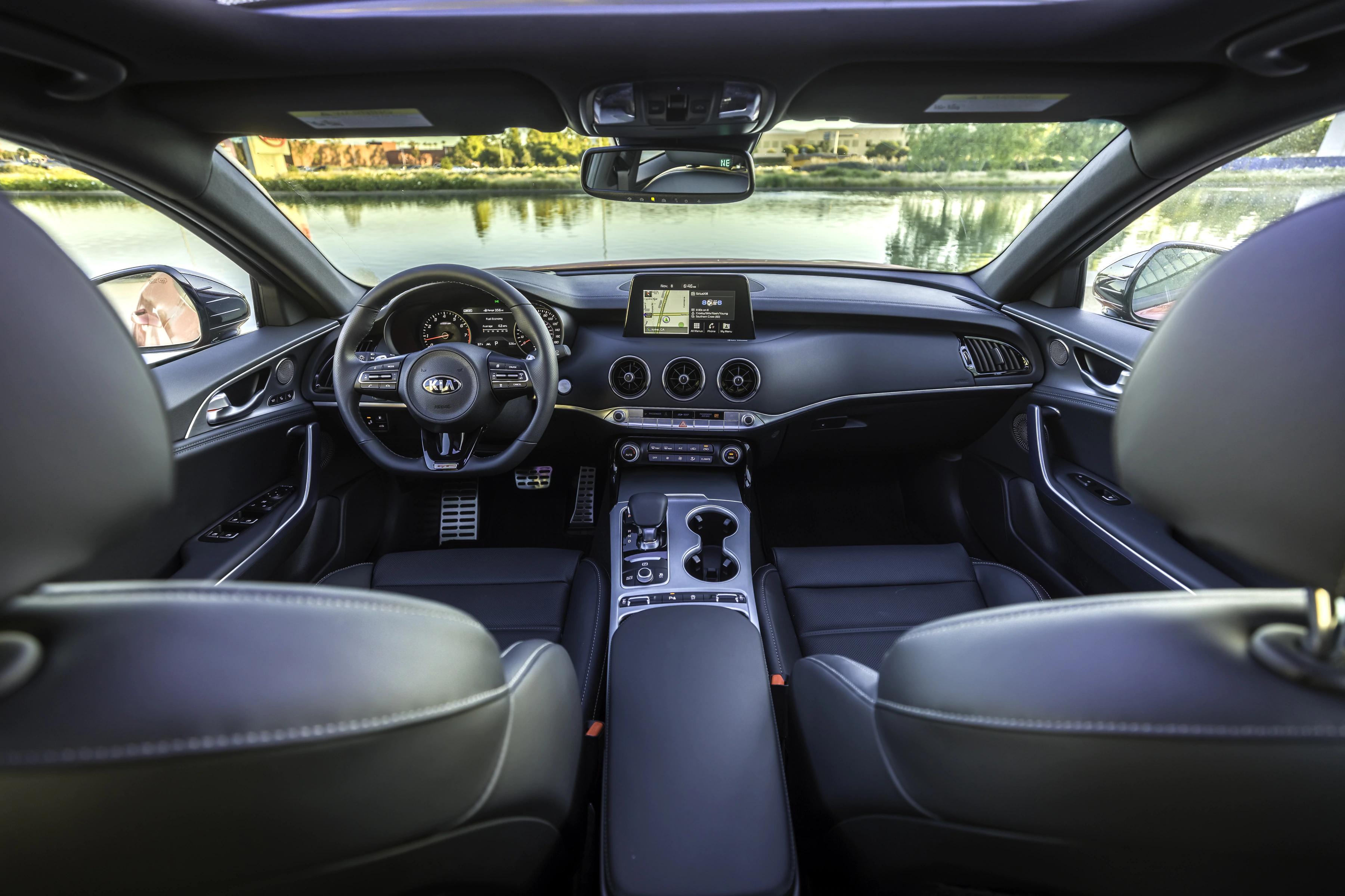 interior view of kia stinger okc ok