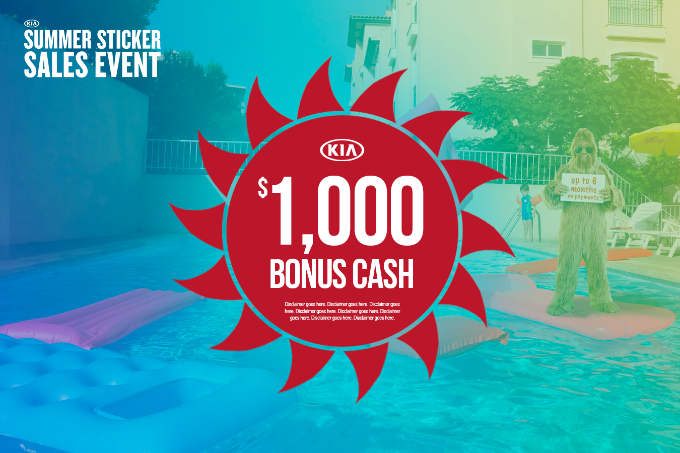 New Kia Offer of $1,000 Bonus Cash