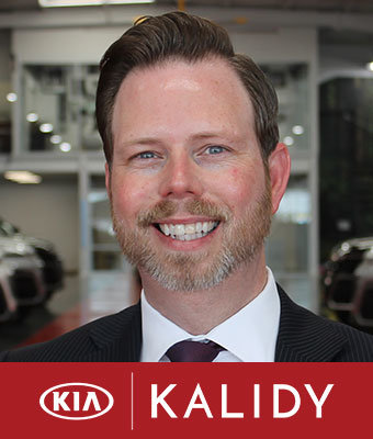 General Manager Corey Suter in Administration at Kalidy Kia
