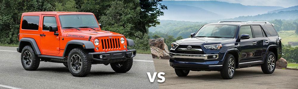 Jeep Wrangler vs. Toyota 4runner