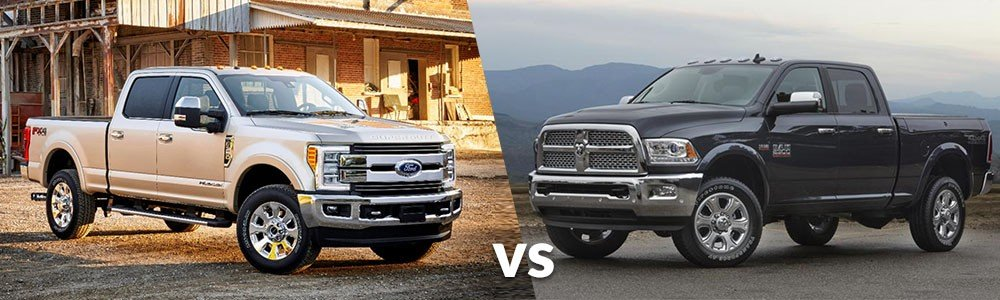 Ford F350 Super Duty Vs Dodge Ram 3500
