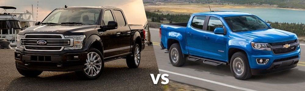The Ford F-150 vs Chevy Colorado