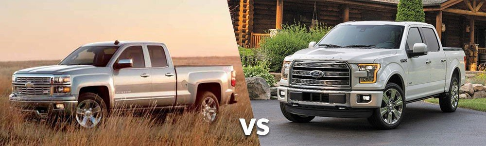 Chevy Silverado 1500 vs. Ford F-150