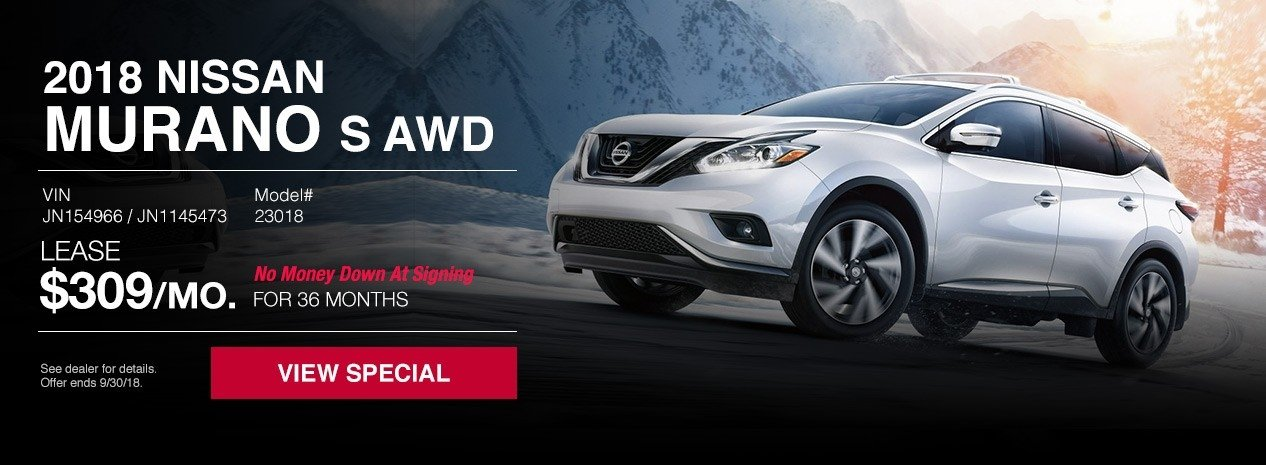 New nissan murano s awd lease special