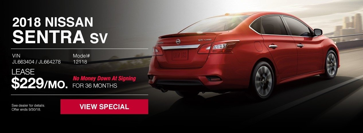 New nissan sentra sv lease special