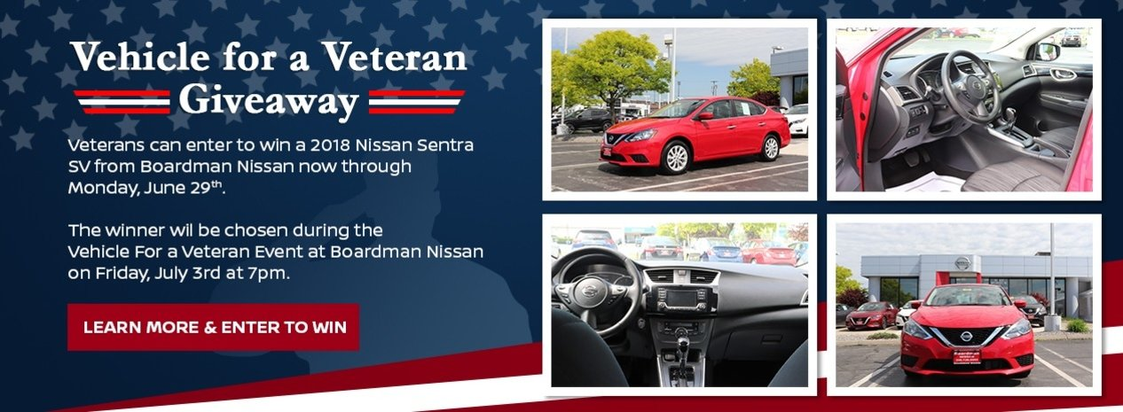 vehicle for a veteran giveaway