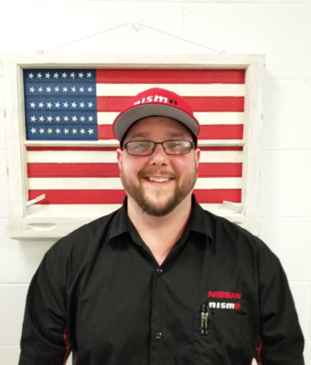 Parts Manager Anthony Secrest in Parts at Boardman Nissan