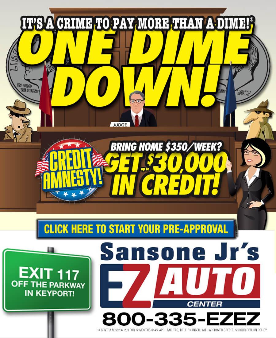 one dime down deal