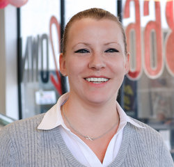 Sales Manager Valerie Wildman in Management at Sansone Jr's EZ Auto