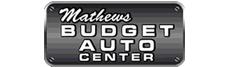 Mathews Budget Auto Center Dealership Logo