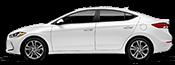 white hyundai elantra for sale at Southshore Hyundai