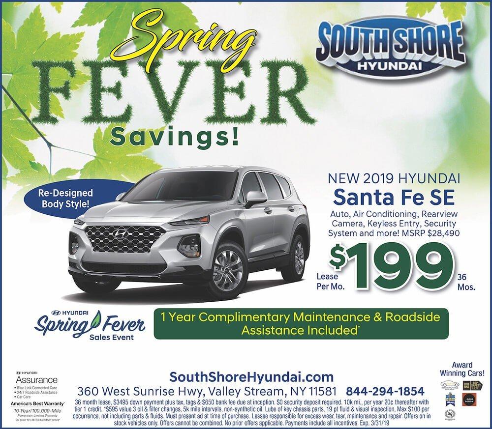 2019 Hyundai Santa Fe lease