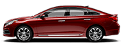 red hyundai sonata for sale at Southshore Hyundai