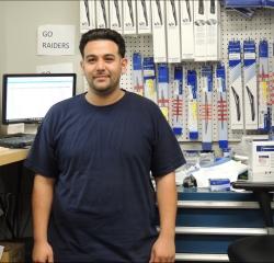 Parts Counterman Alfonso Renteria in Parts at South Shore Hyundai