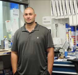 Parts Manager Billy Giancaspro in Parts at South Shore Hyundai