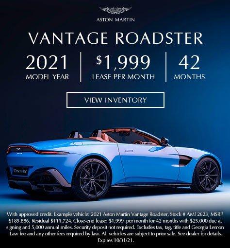 2021 Aston Martin Vantage Roadster in Atlanta GA