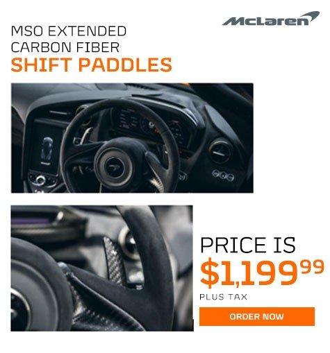 McLaren MSO Extended Carbon Fiber Shift Paddles