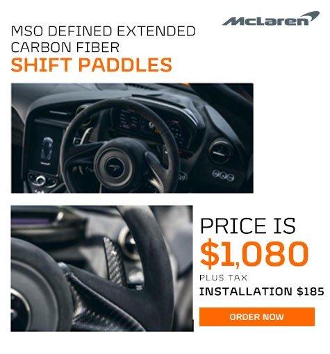 McLaren MSO Defined Extended Carbon Fiber Shift Paddles Offer in Atlanta GA
