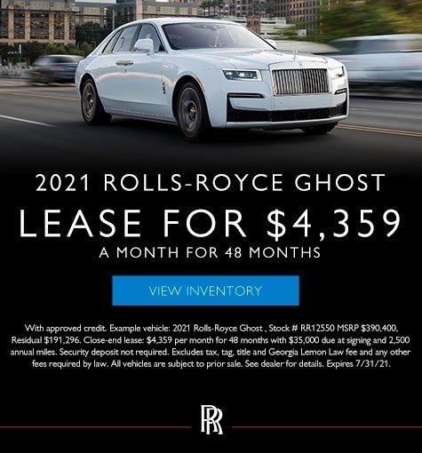 2021 Rolls-Royce Ghost Models