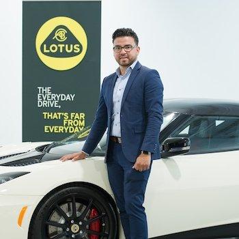 Lotus Brand Ambassador Joe Osorio in Our Team at MotorCars of Atlanta