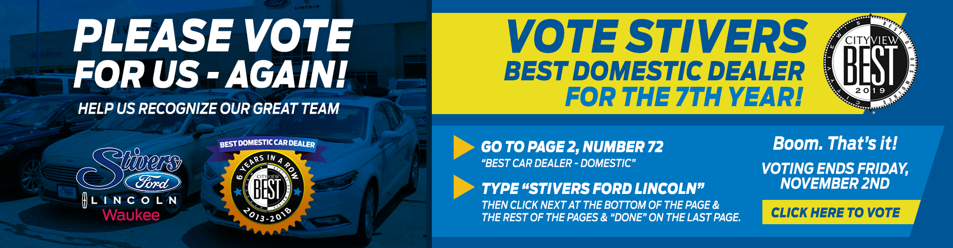 Vote for Stivers