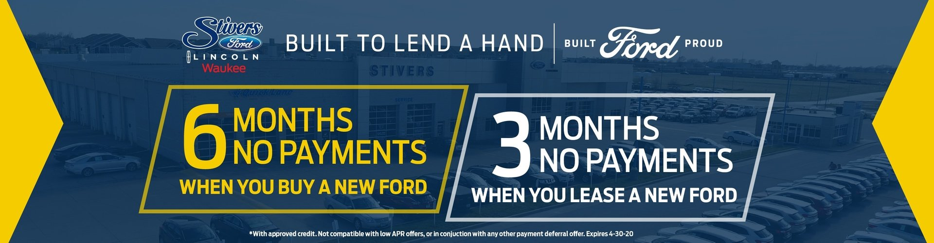 no payments new ford