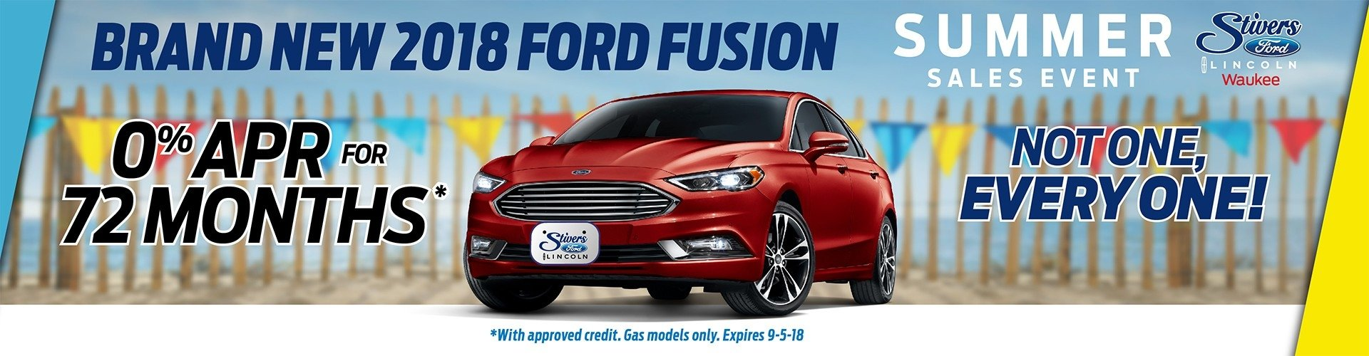 Summer Sales Event  Ford Fusion