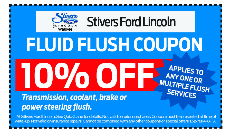 Coupon for Fluid Flush 10% OFF