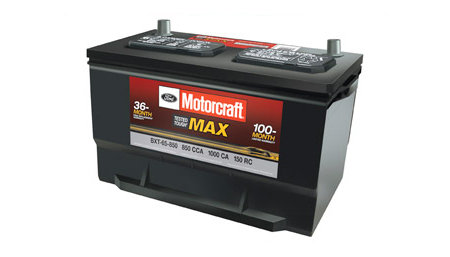Coupon for Motorcraft Tested Tough Max Batteries Starting at $129.95 with 100-month warranty