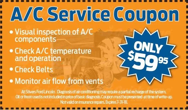 Coupon for A/C Service Coupon
