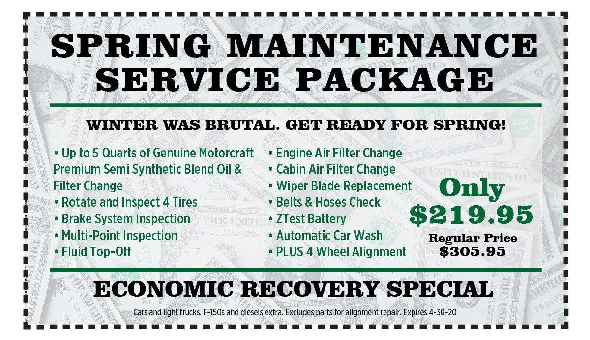 spring maintenance coupon