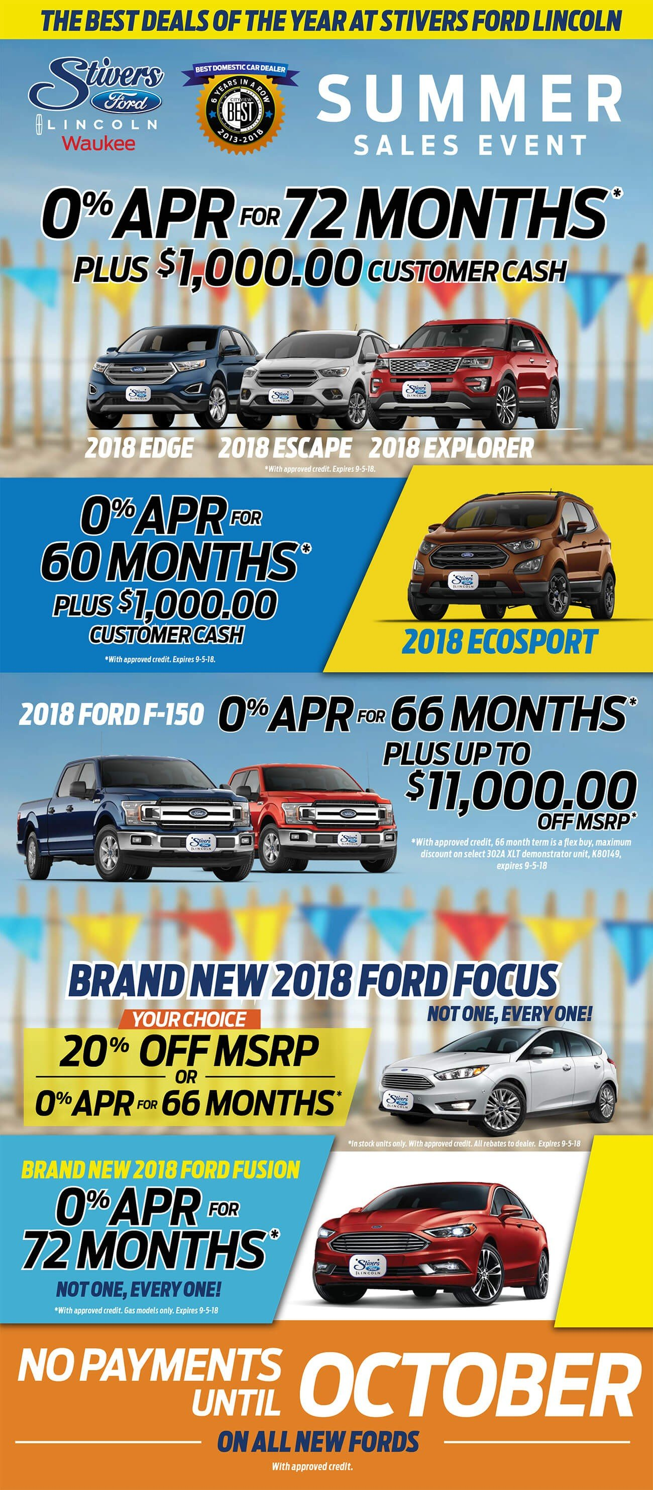Current Ad For New Ford Lincoln Specials At Stivers Ford Lincoln
