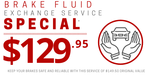 Coupon for Brake Fluid Exchange Service $19.55 OFF original price of $149.50*