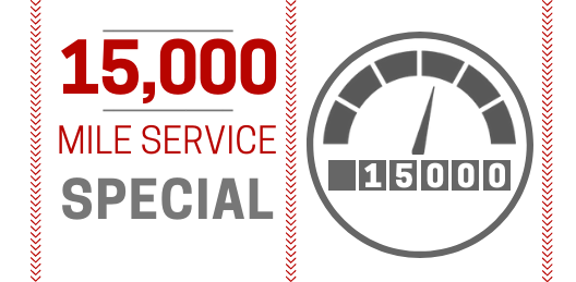 Coupon for 15,000 Mile Service