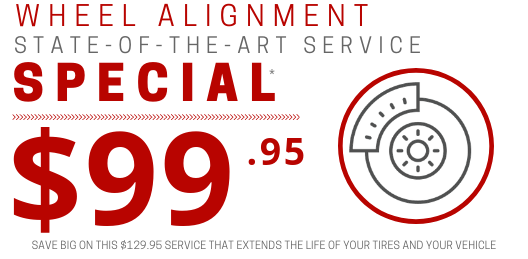 Coupon for Wheel Alignment Special $30 OFF Original Price of $129.95*