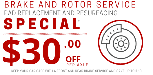 Coupon for Brake Pad Replacement and Rotor Resurfacing Get Up to $60 OFF!