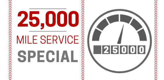 Coupon for 25,000 Mile Service