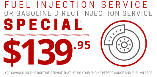 Coupon for Fuel Injection Service $20 OFF ORIGINAL PRICE OF $159.95*