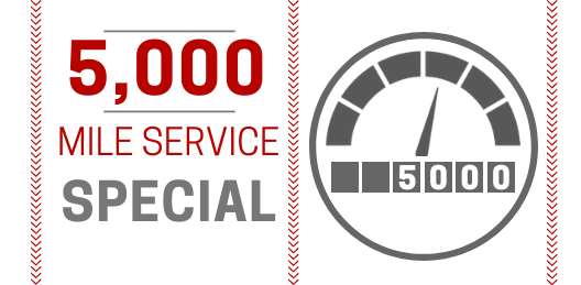 Coupon for 5000 Mile Service