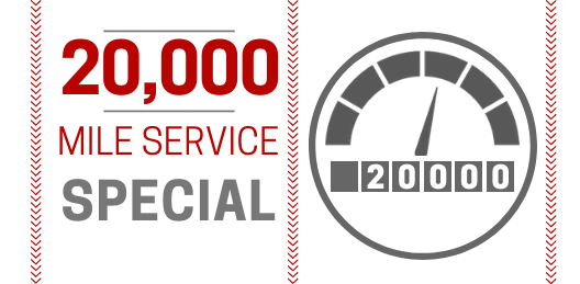 Coupon for 20,000 Mile Service