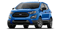 blue ford ecosport suv