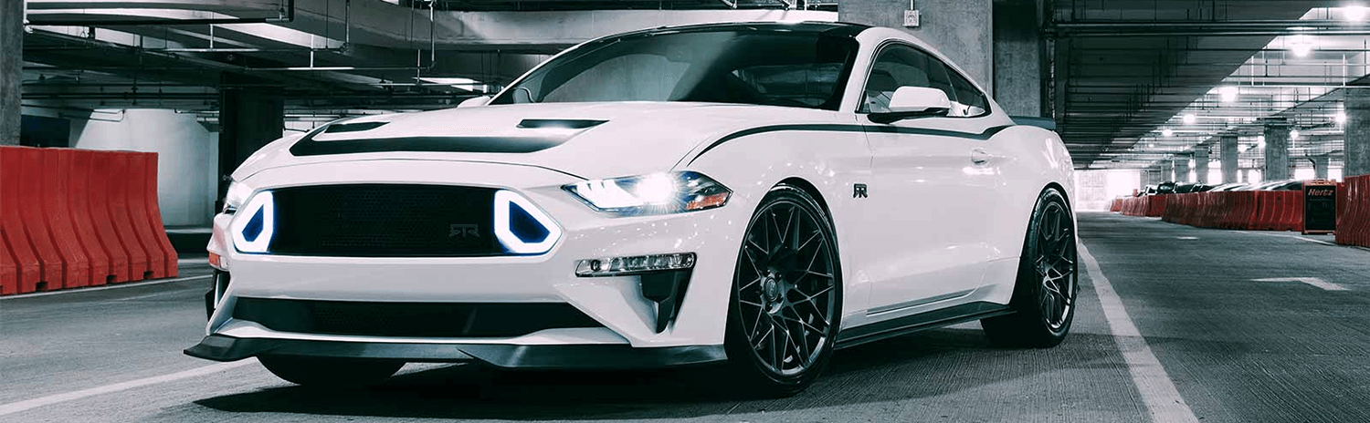 all new white ford mustang RTR Spec 1