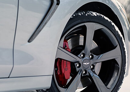 race inspired brakes on the new genesis g70