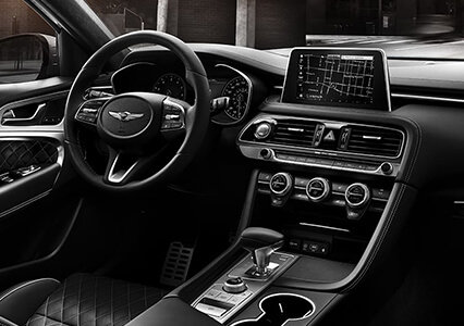 interior view of the new genesis g70