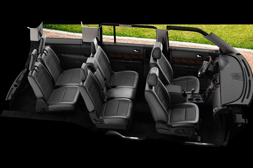 2019 Ford Flex Interior showing 3 rows of seating