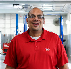 Kia Service Advisor Jay Herowanto in Service Team at Sansone Jr's 66 Automall